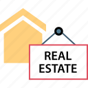 estate, real, sign icon