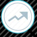 analytcs, arrow, search, web icon