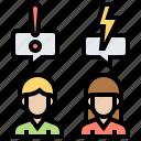 compromise, conflict, dispute, negotiation, problem icon