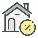 discount, estate, home, house, mortage, property, real icon
