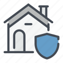 estate, home, house, prodection, real, security icon
