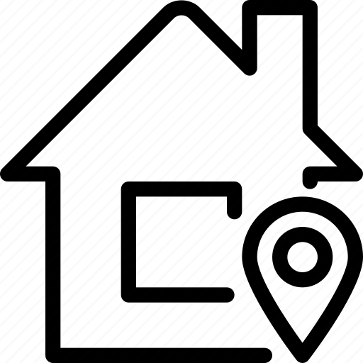 building, home, house, location, navigation icon