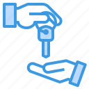 building, deal, estate, house, key, property, sell icon