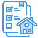 building, check, estate, house, list, property, real icon