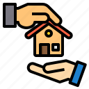 building, deal, house, property, real estate icon