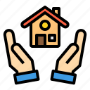 building, house, mortgage, property, real estate icon