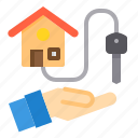 building, deal, house, key, property, real estate icon