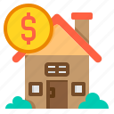 building, house, loan, property, real estate, sale icon