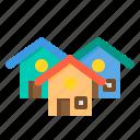 building, house, property, real estate, village