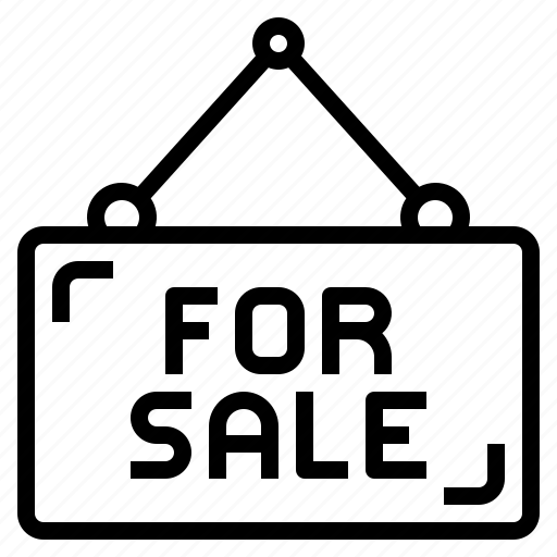 building, house, property, real estate, sale, sign icon
