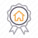 badge, building, home, house, realestate icon