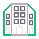 apartment, building, hotel, plaza, realestate icon