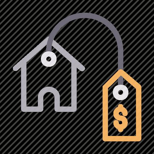 home, house, pricetag, realestate, rent icon