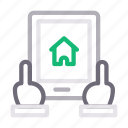 house, online, property, realestate, tablet icon