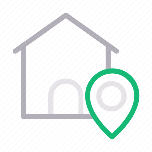 building, home, house, location, map icon