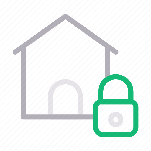 building, home, house, lock, private icon