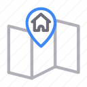 house, location, map, marker, pin icon