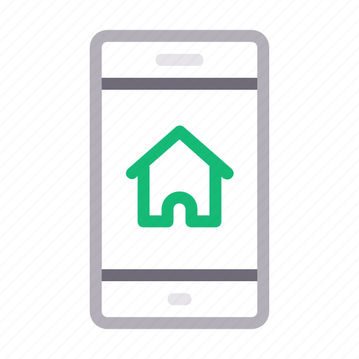 house, mobile, online, phone, realestate icon