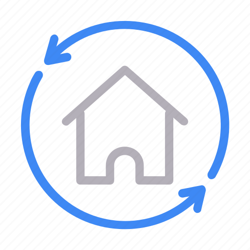 building, home, house, refresh, reload icon