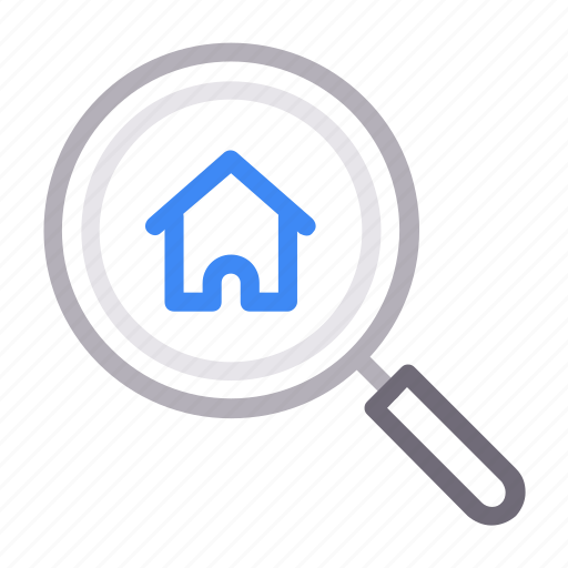home, house, magnifier, realestate, search icon