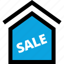 house, sale, sign icon