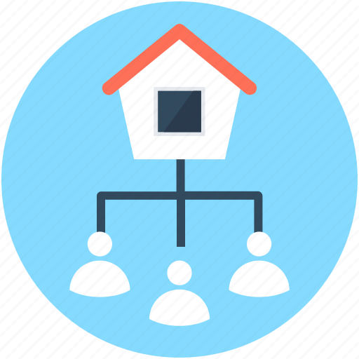 architect, builders, hierarchy, house, project plan icon