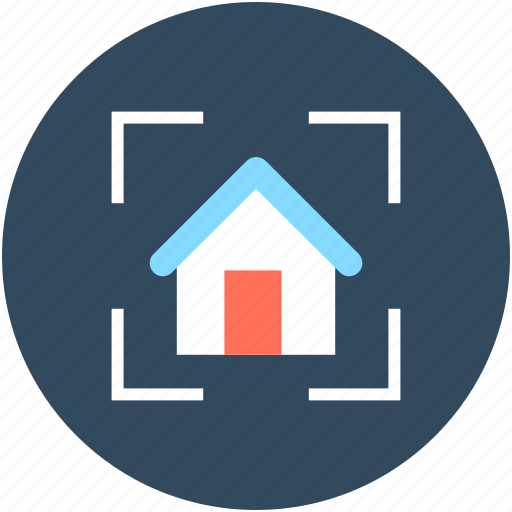 building, focus, house, house search, mortgage icon