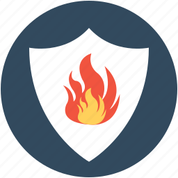 fire protection, fire safety, preservation, protection, shelter icon