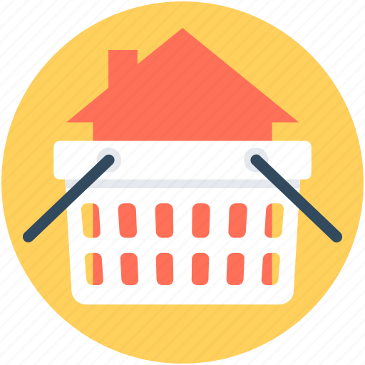 basket, online store, purchase, real estate, shopping basket icon