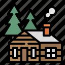 building, cabin, home, house, villas