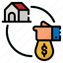 estate, house, loan, mortgage, real icon