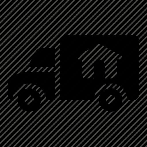 move out, relocate, relocation, truck icon