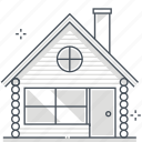 estate, house, investment, log, property, real, rental icon