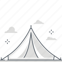 activity, camping, mobile, outdoor, tent icon