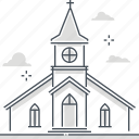 building, estate, immovable, property, real, religious, rental icon