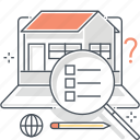 agency, buy, real estate, rental, sale, search, website icon