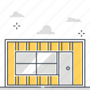container, estate, house, investment, property, real, rental icon