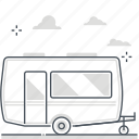 caravan, rental, estate, property, real, car, investment icon