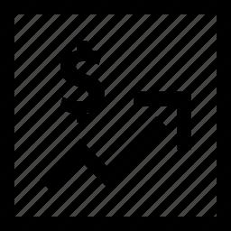 arrow, good, high, point, sales icon