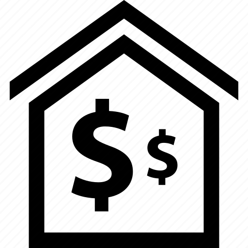dollar, event, home, sale icon