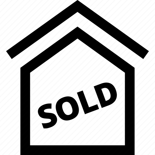 event, home, house, roof, sold icon