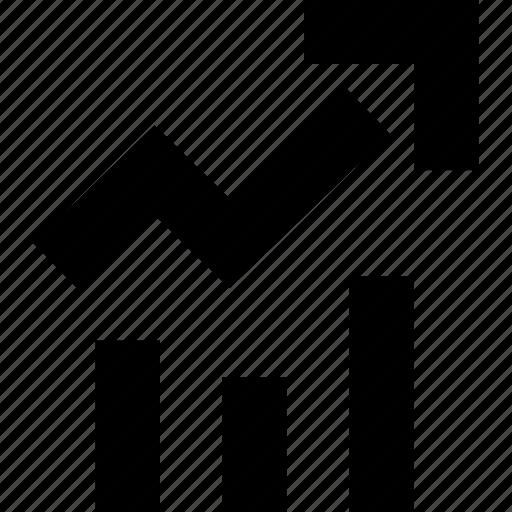 arrow, bars, data, high icon