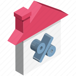 home, percentage, percentage sign, property, property value, real estate, value icon