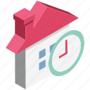 building, cottage, hut, sale time, shop, store, time icon