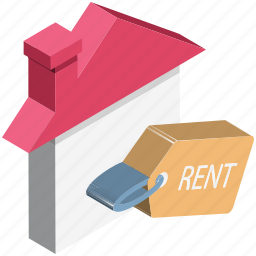for rent, house, house for rent, real estate, relocation, rental concept icon