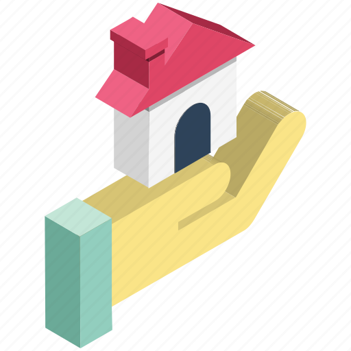 hand, home, house, real estate, secure, secure real estate icon
