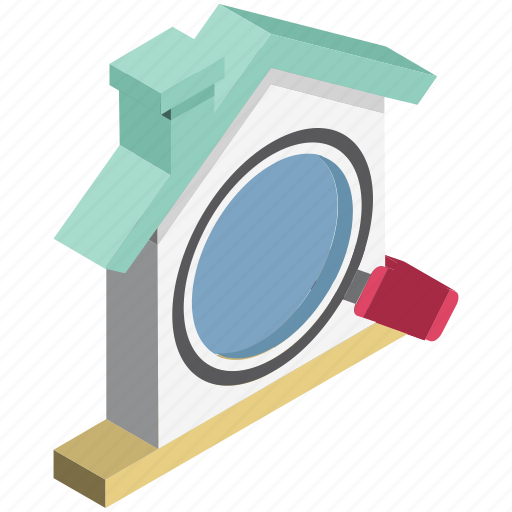 gps, house magnifier, house search, magnifying glass, real, real estate, rental concept icon