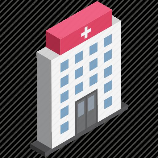 health center, health clinic, hospital, hospital building, medical center, medical facility, polyclinic icon