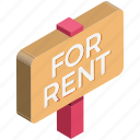 for rent, house, info, real estate, relocation, rent sign icon
