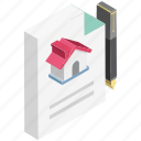 legal documents, mortgage, mortgage loan, property papers, rental agreement icon